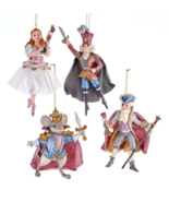 "KURT ADLER 6.38"" RESIN NUTCRACKER SUITE BALLET 4 PIECE XMAS ORNAMENT SET... - $69.88"