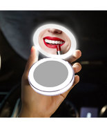 USB Travel Mini LED Makeup Mirror Portable Fold Rechargeable Wireless Ch... - $34.32