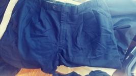 mens ralph lauren dark blue pleated pants size 38 jvc314 - $15.65