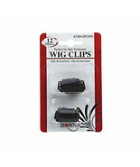 Donna Wig Clips Perfect for Hair Extensions 12pk Small #7984 Brown - $3.95