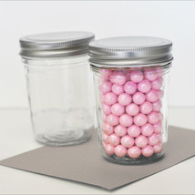 50 DIY Mini Mason Candy Jar Birthday Baby Shower Bridal Wedding Favor Co... - $75.95