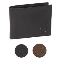 Nautica Men's Bifold Genuine Leather Credit Card ID Passcase Wallet 31NU22X036
