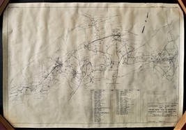 1939 antique YORK PA MAP susquehanna river flood control indian rock dam... - $68.95