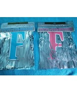 First Communion Giant Glitter Foil Fringe Letter Banner, Pink or Blue - New - $11.98