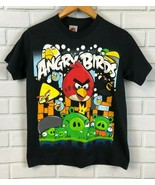Angry Birds Angriest Attach Black Short Sleeve Crew Neck YS TShirt - $14.95