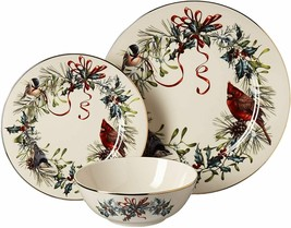 Lenox Winter Greetings 3 Pc Place Setting - Dinner plate, salad plate, bowl $202 - $103.25