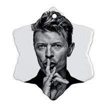 Memorabilia Ornament - David Bowie Procelain Ornaments (Snowflake) Chris... - $2.99
