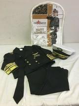 Kids Navy Admiral Black Costume 2T - $21.97