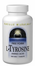 Source Naturals L-Tyrosine 500mg 50 Tablets (Pack of 2) - $14.18