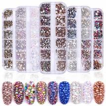Nail Art Rhinestones Glitter Crystal Gems Craft Beads Tips Nails Diamonds - $7.56
