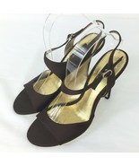 Nina Brown High Heels Shoes Strapy Sandal Style Women Size 9.5 - $38.60