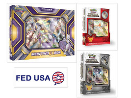 Pokemon Tcg (3) Collection Box: Mewtwo Ex, Mythical Arceus & Victini + Bonus - $52.50