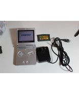 Nintendo GameBoy Advance SP w Casino Game Silver w charging Cord - $59.95