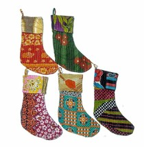 Wholesale 10 Pc Lot Indian Hippie Recycled Vintage Kantha Christmas Stoc... - $78.39