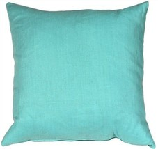 Pillow Decor - Tuscany Linen Turquoise 20x20 Throw Pillow (NB1-0005-01-20) - $39.95