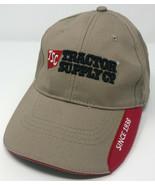 TSC Tractor Supply Company Baseball Hat Red & Khaki Adjustable Cap OSFA - $9.79