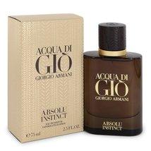 Giorgio Armani Acqua Di Gio Absolu Instinct 2.5 Oz Eau De Parfum Spray image 6