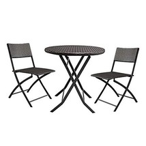 St.CHIU Rattan Patio Furniture Set, 1 Round Table & 2 Chair Sofa Furnitu... - $179.37