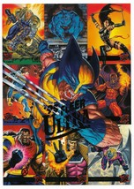 1995 Fleer Ultra X-Men Set Promo Card with Wolverine, Gambit, Cable, Arc... - $7.40