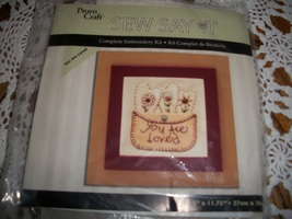 "Provo Craft~""You Are Loved"" Embroidery Kit - $7.00"