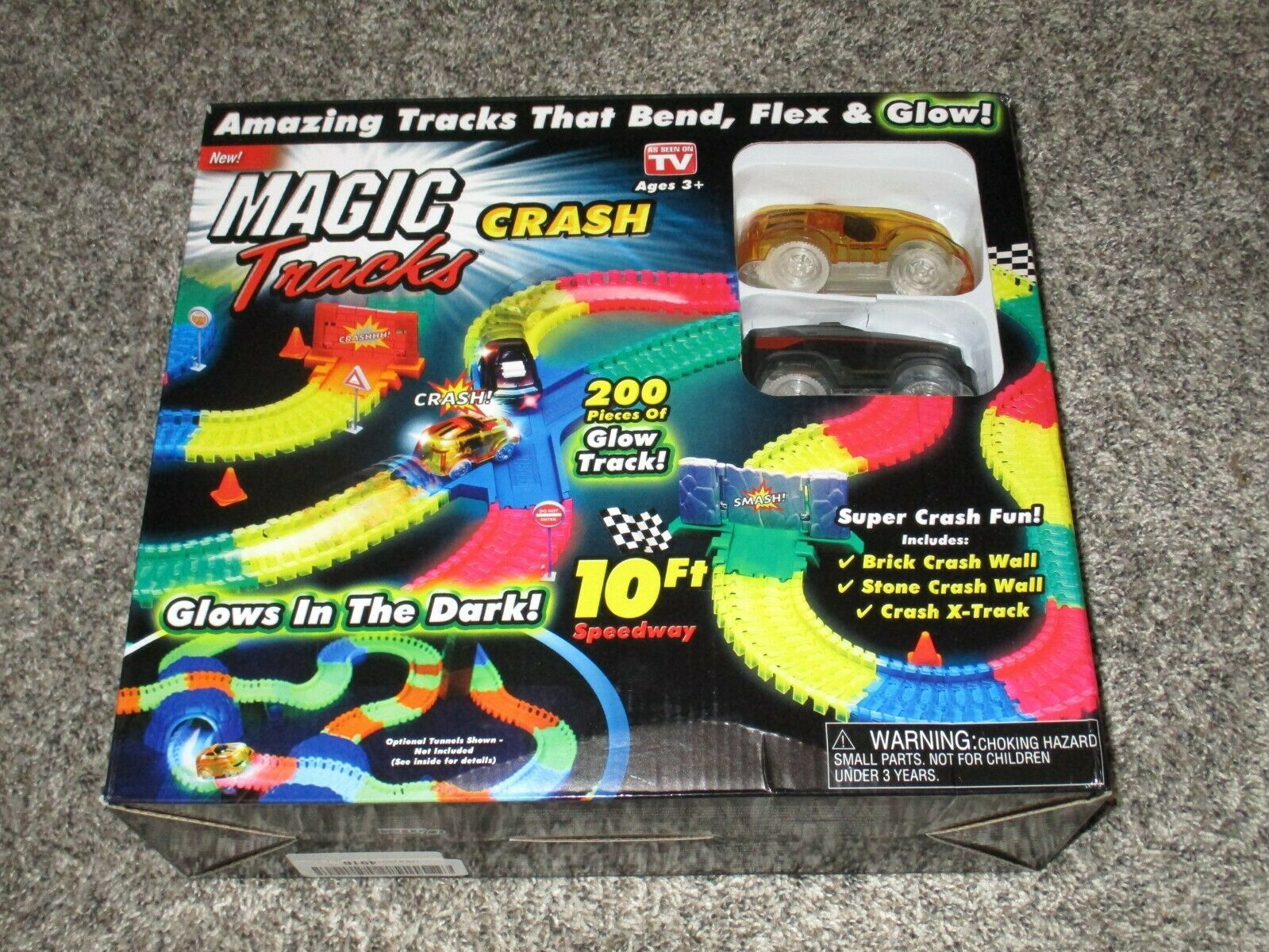 Magic Tracks Crash 10 ft of Flexible, Bendable Glow in The Dark As Seen On TV