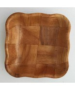 "Woven Wood Scalloped Edge Square Salad Bowl Replacement 6.5"" - $8.60"