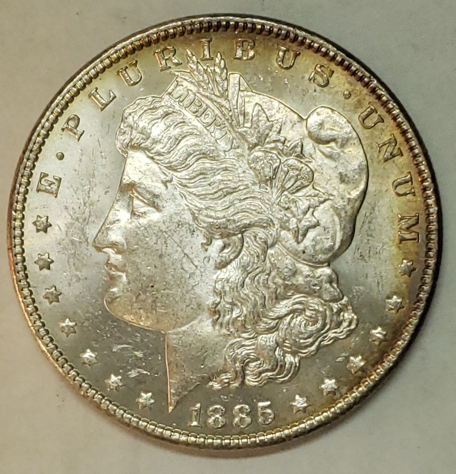 1885 $1 Morgan Silver Dollar Coin Lot # E 100