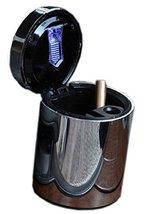 Portable Stainless Auto Car Cigarette Ashtray Smokeless LED Cigarette Ashtray