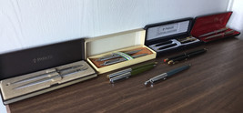 Lot Of 13 Vintage Parker Ballpoint Pens Mechanical Pencils Set Pen Pencil G - $155.92