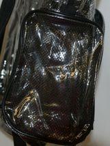 Unbranded Item Clear Netted Backpack Black Trim  Large Five Pockets image 3
