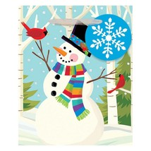 Smiling Snowman Christmas Jewelry Small Gift Bag with Tag - $2.17