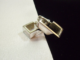 AVON Silver Plate SQUARED HOOP Clip on Earrings Vintage Estate Career Cl... - $14.84