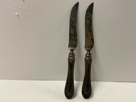 Antique Vintage 1835 R.Wallace Silver Plate Meat Carving Dinner Knife Lot-2 - $24.75