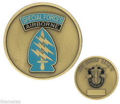 Army Special Forces Airborne The Green Berets Military Challenge Coin - $27.07