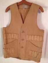 Vtg Shotgun Hunting Vest 24 Shell Game Pouch Sears 50 Years Old - $22.76