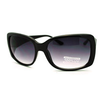 Classic Thick Plastic Womens Fashion Butterfly Sunglasses - Black - $7.95