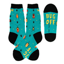 Bug Off Foot Traffic Women's Crew Socks New Colorful Novelty Insect Fashion - $9.95