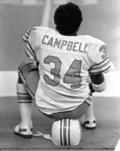Earl Campbell Oilers SFOL Vintage 11X14 BW Football Photo - $14.95