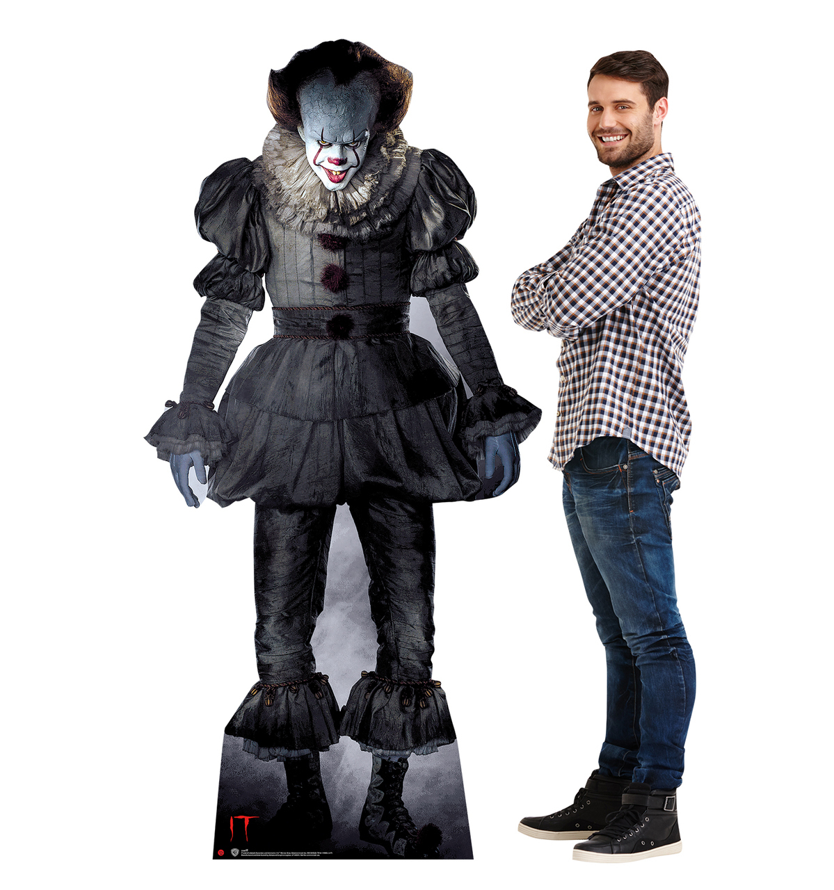 IT PENNYWISE CLOWN STEPHEN KING LIFESIZE CARDBOARD STANDUP CUTOUT LICENSED 2568