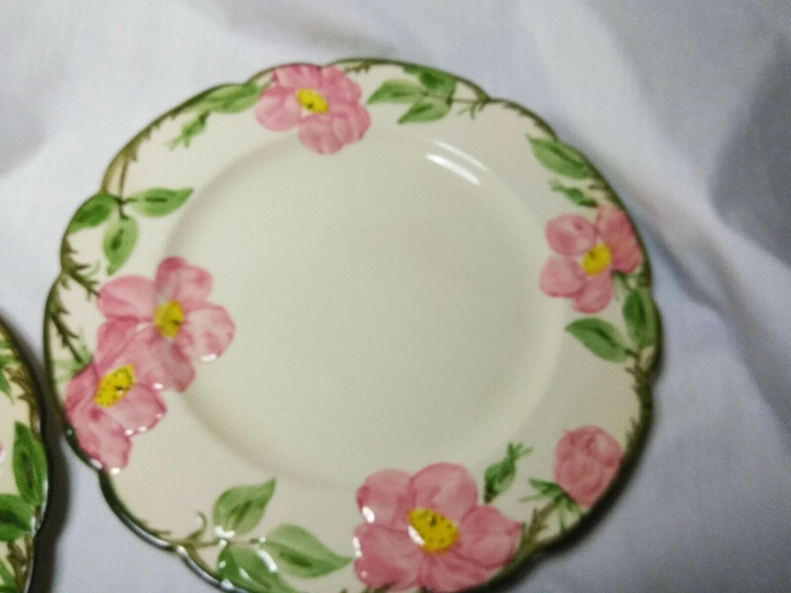 Vintage Franciscan China Desert Rose 4 piece plate set 3 size plates and 1 bowl