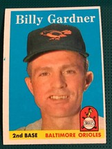 1958 Topps Baseball Card #105  Billy Gardner - $5.89