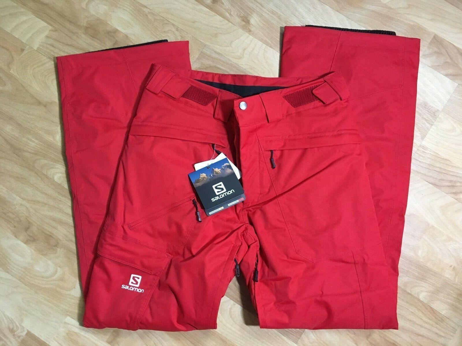 Salomon Response Ski Snowboard Pants Unisex, Size XS or S, Red, NEW