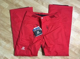 Salomon Response Ski Snowboard Pants Unisex, Size XS or S, Red, NEW image 1
