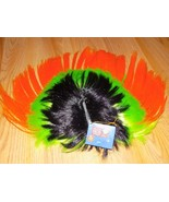 One Size Cool Novelty Mohawk Muti Colored Costume Wig Orange Green Black... - $12.00