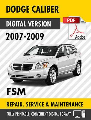 dodge caliber 2007 workshop service repair manual