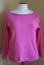 Sz L Ralph Lauren women's woman's Pink Blouse top 100% cotton gently use... - $13.81