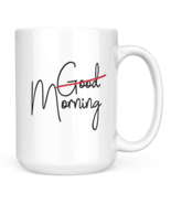 Morning Mug Good morning White ceramic 15oz Novelty coffee Mug - $17.05 CAD
