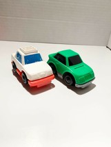 Vintage Fisher Price Little People Ambulance & Green Car 1992 - $6.15