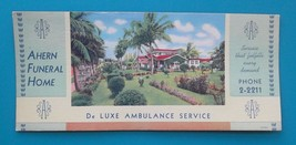 MIAMI Florida Ahern Funeral Home - 1930s INK BLOTTER - $7.40