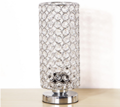 Table Lamp Desk Light Crystals Shade Modern Bedroom Living Room Office S... - $50.00